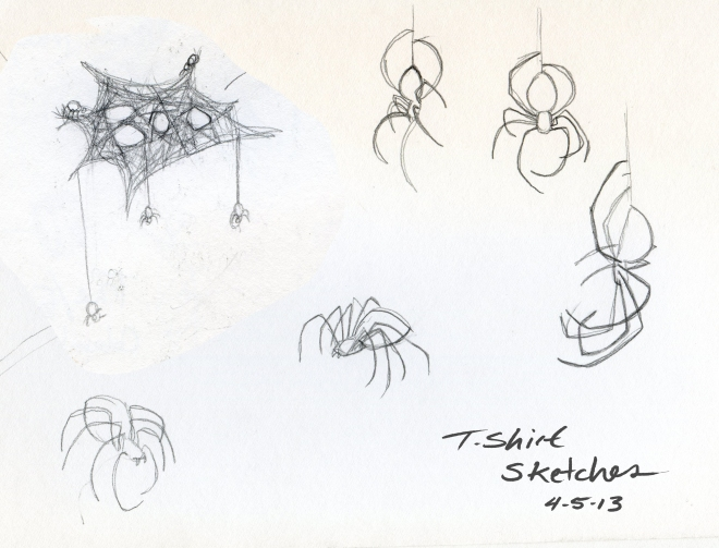 Tshirt sketches - spider